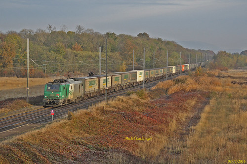 BB 37056 Train Multimodal Ambrogio Hausbergen-Muttenz à Staffelfelden