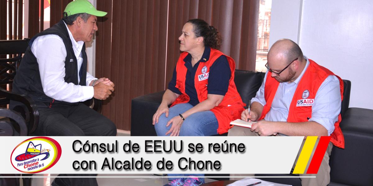 Cónsul de EEUU se reúne con Alcalde de Chone
