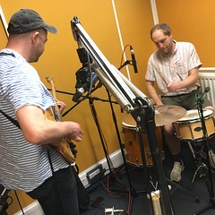 Vital Idles and Technofossil performing live in session on The deXter Bentley Hello GoodBye Show on Resonance 104.4 FM in Central London on Saturday 14th September 2018