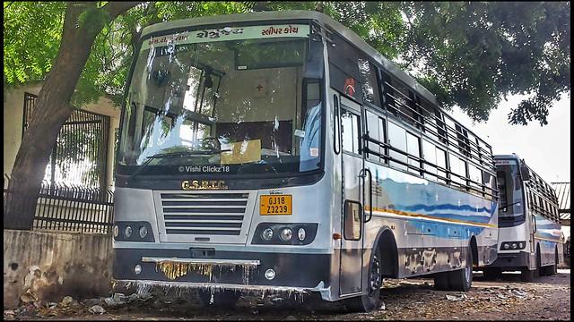 Gsrtc Sleeper Coach Bus Surat To Palitana Service