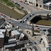 The Clarkson Memorial & Town Bridge in Wisbech - Cambridgeshire aerial image