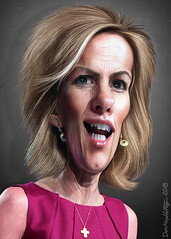 Laura Ingraham - Caricature