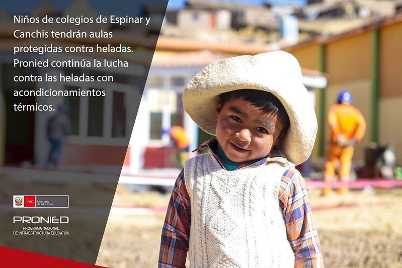 Aulas con acondicionamiento térmico para niños de Espinar y Canchis en Cusco