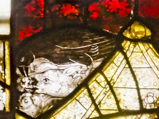 Great Malvern Priory Window s4 detail of 3d