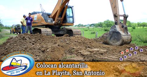 Colocan alcantarilla en La Playita, San Antonio