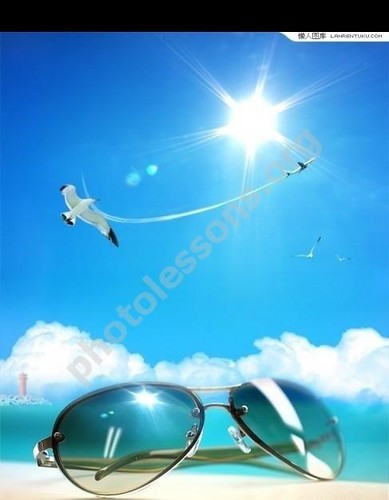 Summer background for Photoshop in .PSD