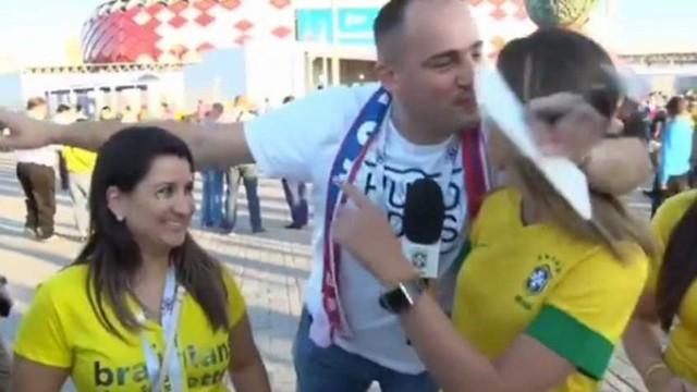 Laura Zago, repórter da TV CBF, foi uma das vítimas - Créditos: Reprodução da internet