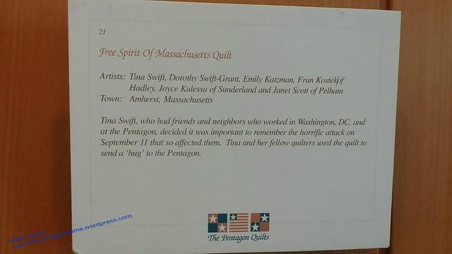 Free Spirit of Massachusetts Quilt description
