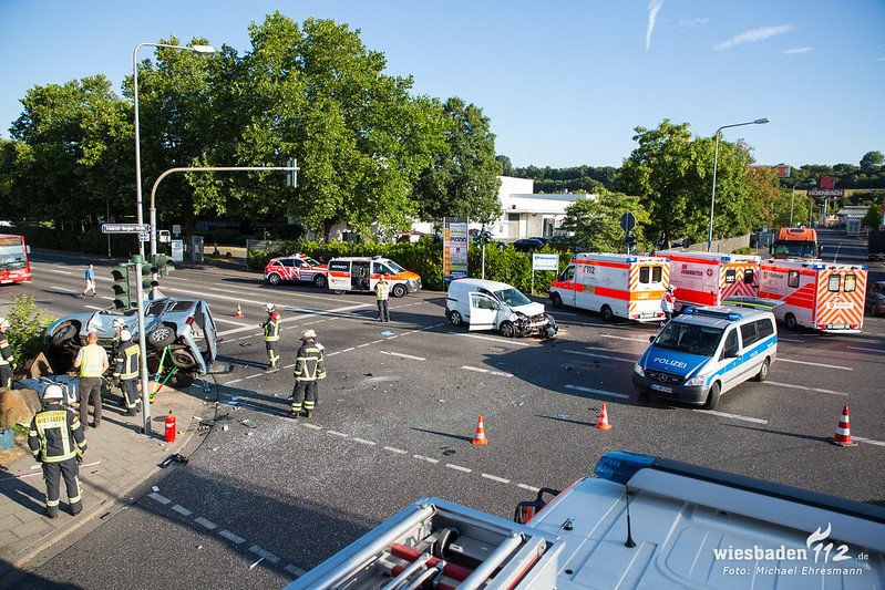 Verkehrsunfall Hagenauer Str/Friedrich-Bergius-Str 09.07.18