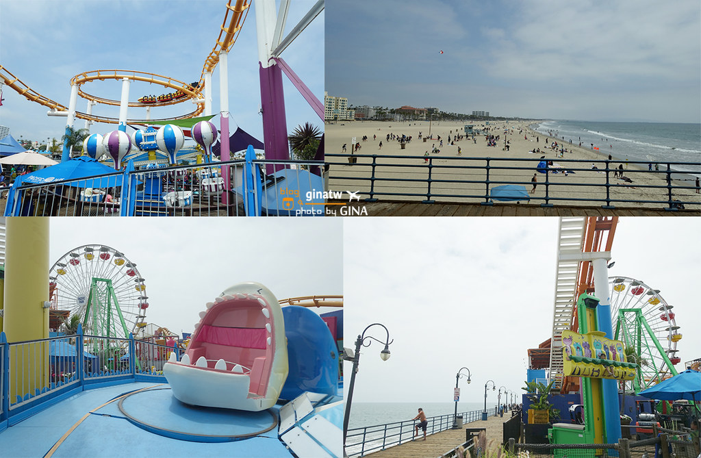 【洛杉磯自由行】LA景點|聖塔莫尼卡|加州陽光沙灘、碼頭 / 太平洋公園 ( Santa Monica Pier / Pacific Park) @GINA LIN