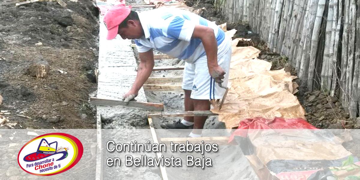 Continúan trabajos en Bellavista Baja
