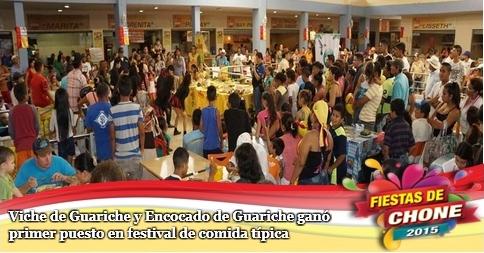 Viche de Guariche y Encocado de Guariche ganó primer puesto en festival de comida típica