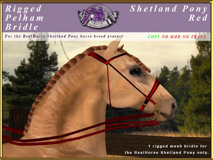 e-rh-Shetland-PelhamBridle-Red - TeleportHub.com Live!