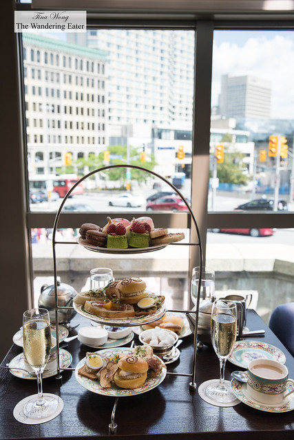 Afternoon tea for two with a view of downtown Ottawa
