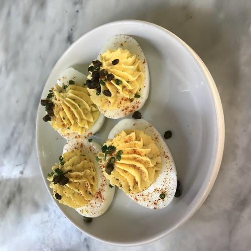 Deviled eggs at Bouchon