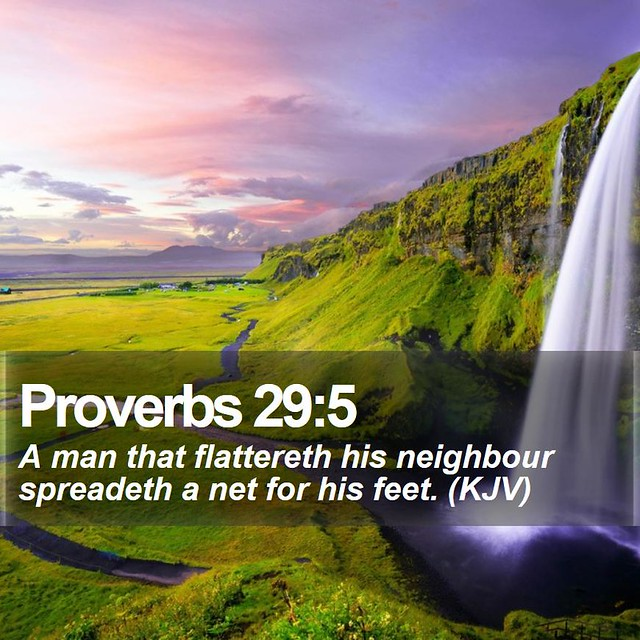 Daily Bible Verse - Proverbs 29:5