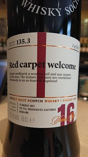 SMWS 135.3 - Red carpet welcome