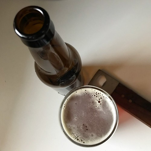 "tasted our first homemade homebrew today, an amber ale that were calling ""primero uno"" #homebrewing #homebrew #adventuresinhomebrewing #beer"