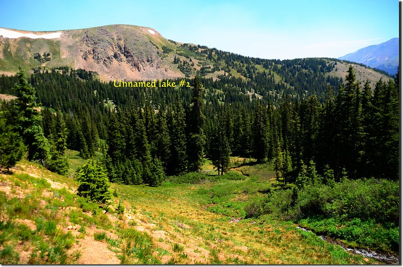 Looking north from the unnamed lake  #2 1