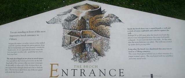 Broch of Gurness Entrance Information Board