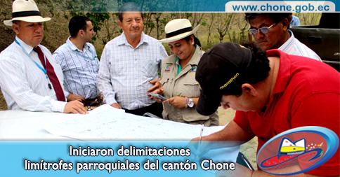 Iniciaron delimitaciones limítrofes parroquiales del cantón Chone