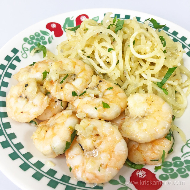 Shrimp Scampi with Sweet Potato Noodles 3