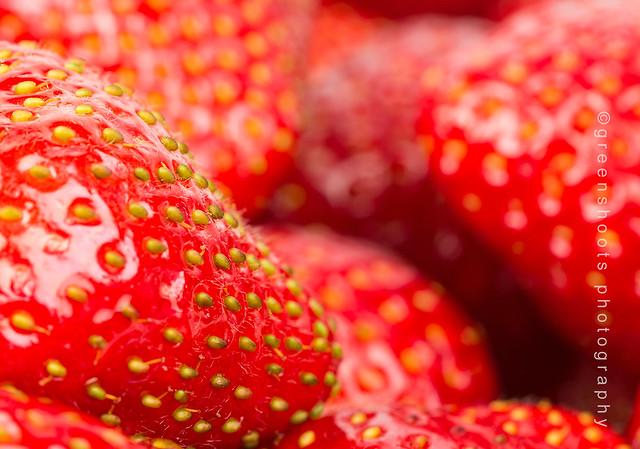 Strawberries - up close