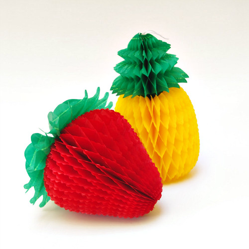 Honeycomb Strawberry and Pineapple Table Decor