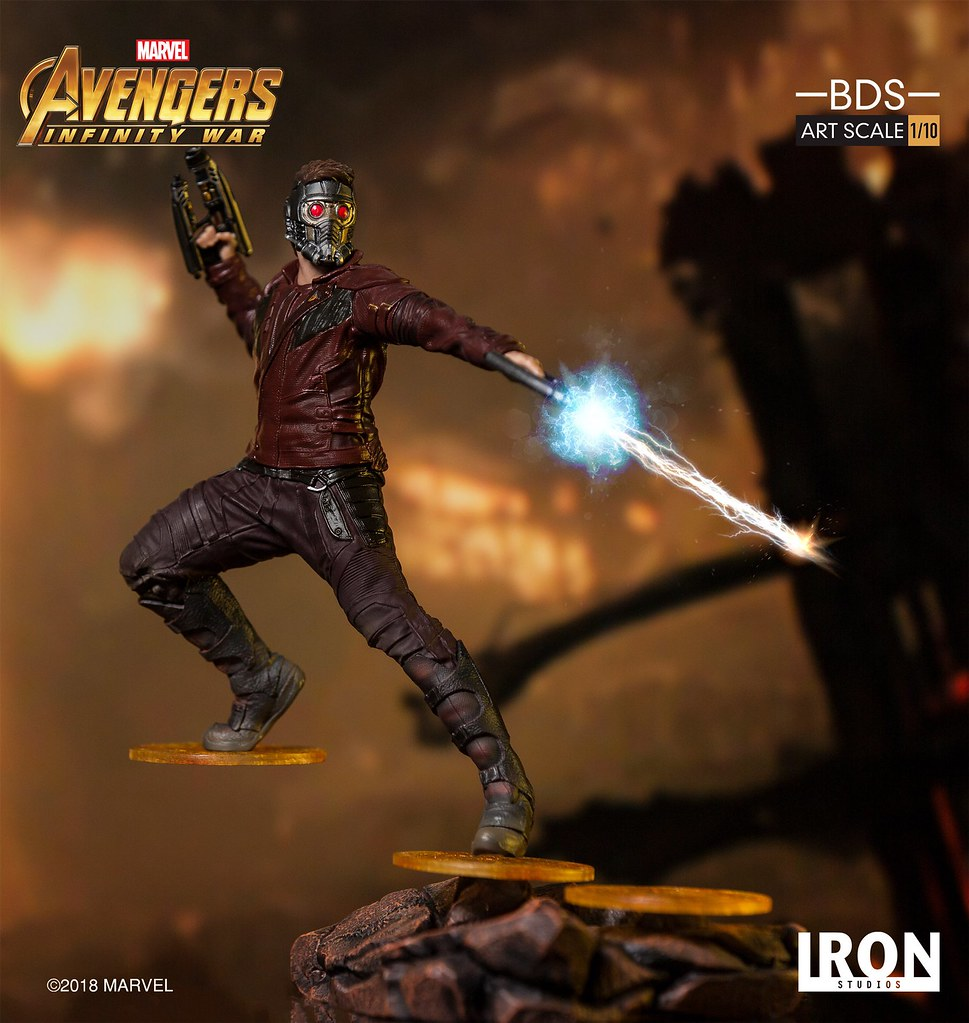 Iron Studios Reveals Star-Lord BDS Art Scale 1/10 - Avengers: Infinity War!