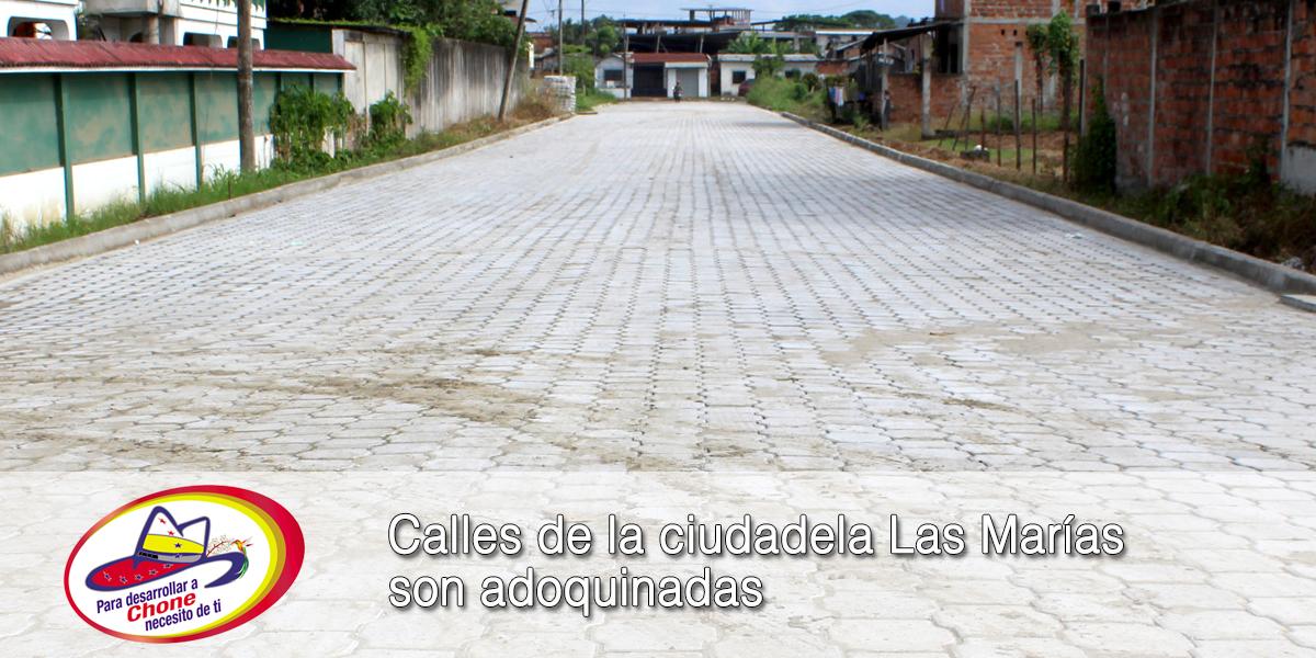 Calles de la ciudadela Las Marías son adoquinadas