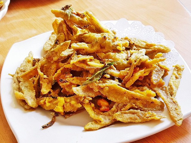 Crispy Bitter Gourd With Salted Egg