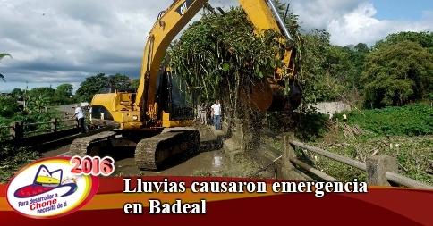 Lluvias causaron emergencia en Badeal