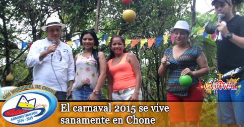 El carnaval 2015 se vive sanamente en Chone