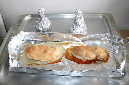 24 - Hähnchen & Knoblauch abkühlen lassen / Let cool down chicken & garlic
