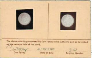 Taxay Dime card front