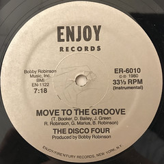 THE DISCO FOUR:MOVE TO THE GROOVE(LABEL SIDE-B)