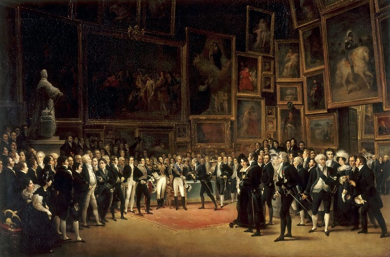François Joseph Heim - Charles X Bestowing Honours on the Artists at the Salon of 1824 (1827)