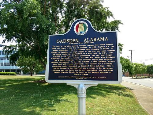 Gadsden, Alabama - Gadsden, Alabama Historical Marker