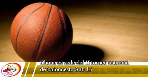 Chone es sede del II torneo nacional de baloncesto Sub 13