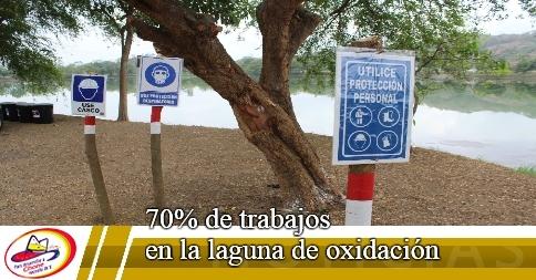 70% de trabajos en la laguna de oxidación