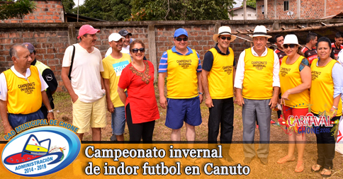 Campeonato invernal de indor futbol en Canuto