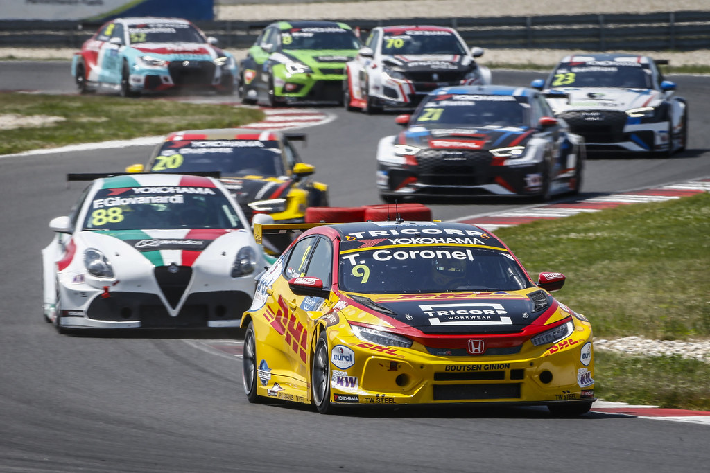 09 CORONEL Tom, (nld), Honda Civic TCR team Boutsen Ginion racing, action during the 2018 FIA WTCR World Touring Car cup race of Slovakia at Slovakia Ring, from july 13 to 15 - Photo François Flamand / DPPI.