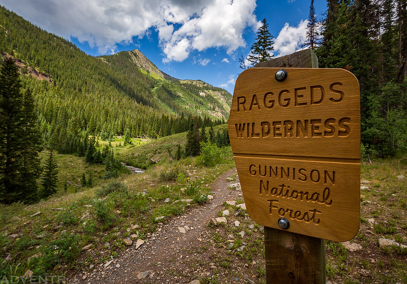 Raggeds Wilderness Sign