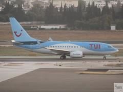 TUI Airlines Belgium B737-7K2 OO-JAL taxiing at AGP/LEMG