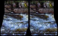Creek 3-D / CrossEye / Stereoscopy / HDR / Raw