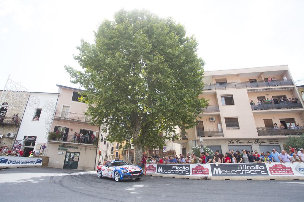 31 NUCITA Andrea (ita), VOZZO Marco (ita), Abarth 124 Rally, action during the 2018 European Rally Championship ERC Rally di Roma Capitale,  from july 20 to 22 , at Fiuggi, Italia - Photo Gregory Lenormand / DPPI