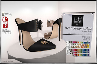 Sage Etc.- Isn't It Romantic Heels Base Set sign copy