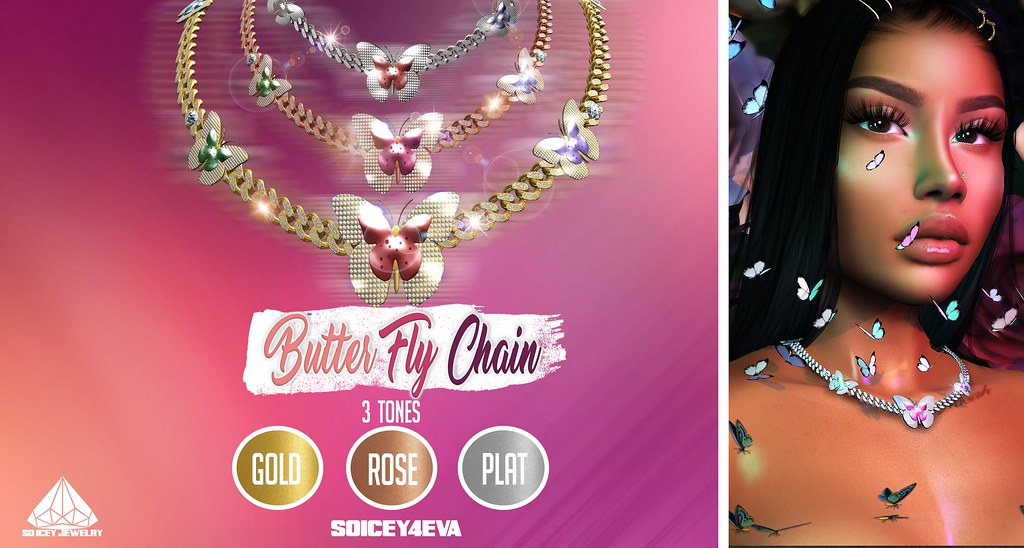 💎SOICEY4EVA💎 🌸ButterFly Chain🌸 Now Available!