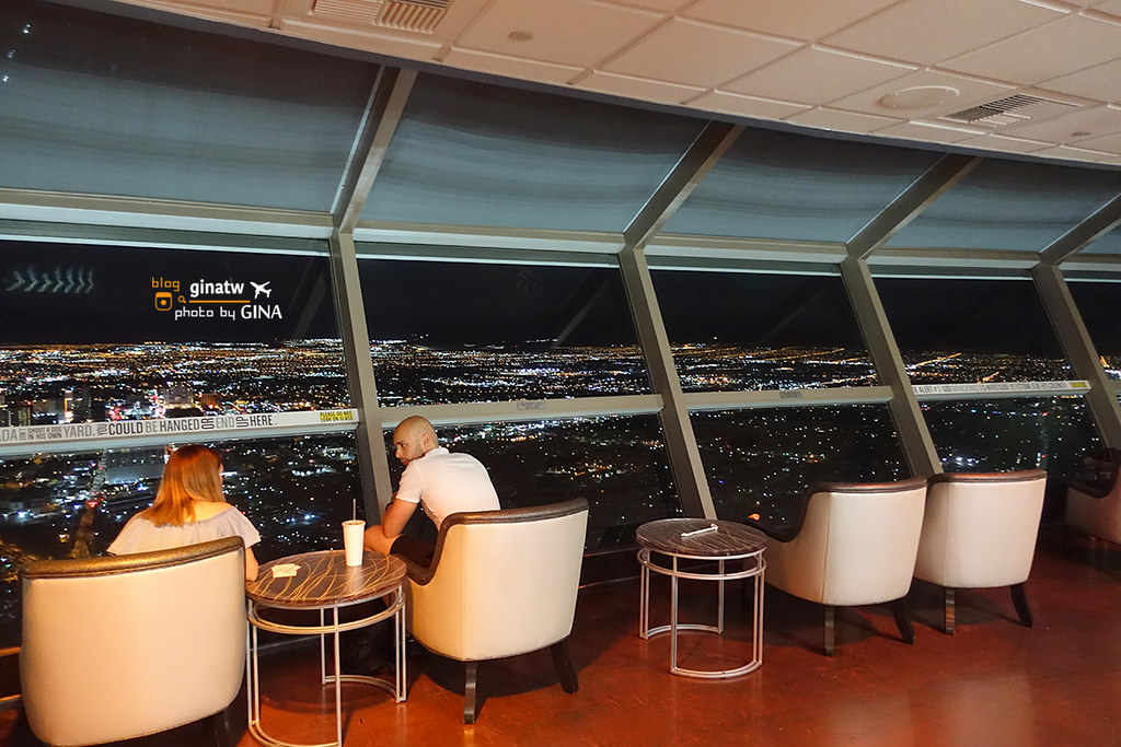 【拉斯維加斯必看夜景】雲霄塔觀景台(Stratosphere Tower)天空BAR美景 盡收眼底 @GINA環球旅行生活 不會韓文也可以去韓國 🇹🇼