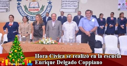 Hora Cívica se realizó en la escuela Enrique Delgado Coppiano